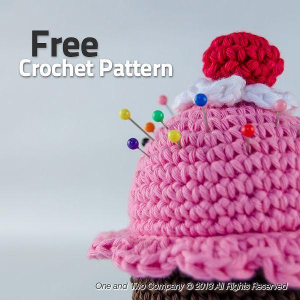 Cupcake Pin Cushion FREE Crochet Pattern | Cositas en crochet ...