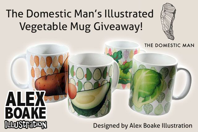 The Domestic Man's Illustrated Vegetable Mug Giveaway!
