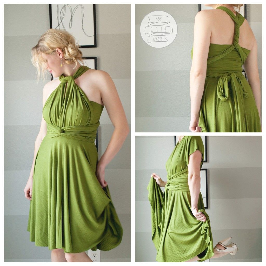Infinity dresses the working bride - Looks Pretty Simple Infinity Dress Patterns With Choice Of Short Circle Or Maxi Skirt