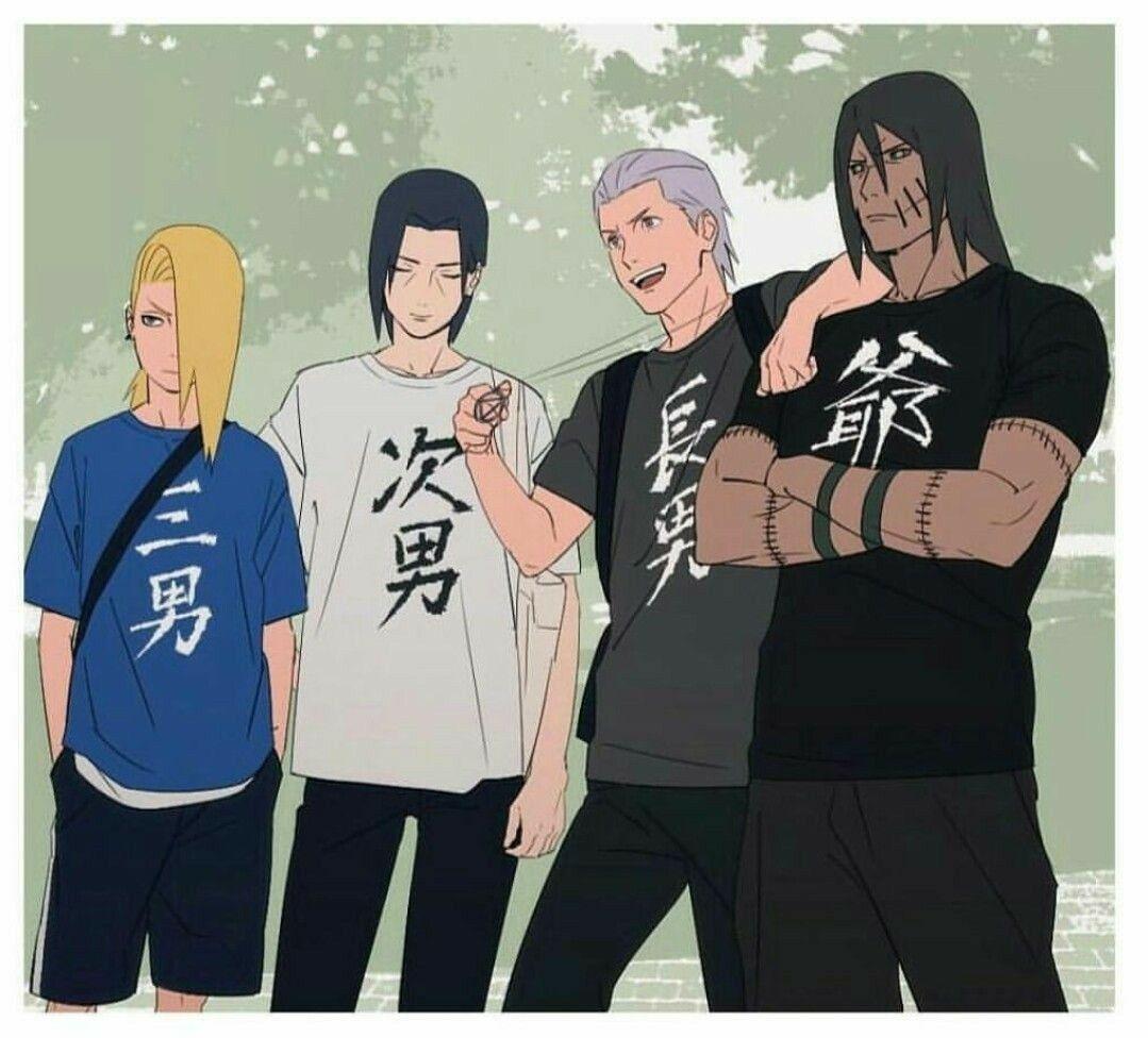 Deidara, Itachi, Hidan & Kakuzu