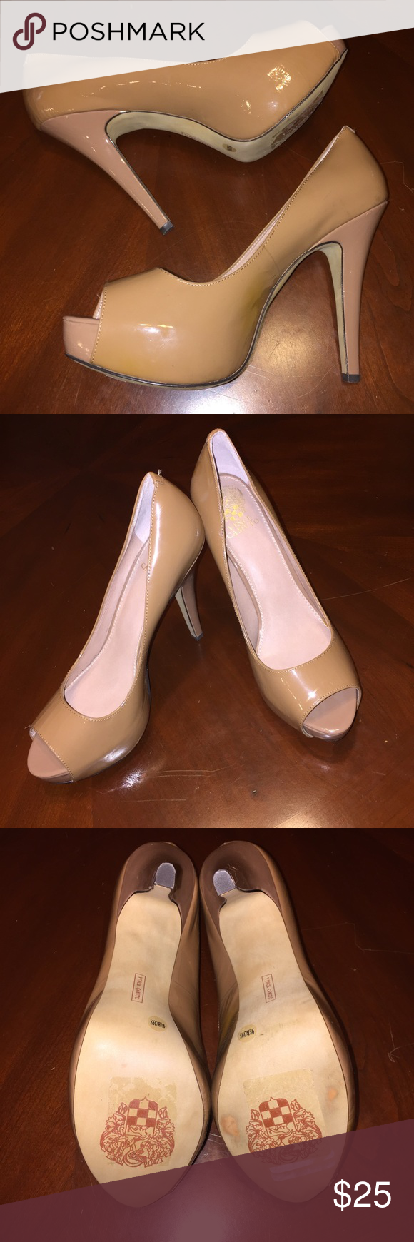 Vince Camuto Platform Peep Toes Vince Camuto Platform Peep Toes   Size 9.5 5 inch heel Barely worn (once for less than an hour) -  Great condition! Vince Camuto Shoes