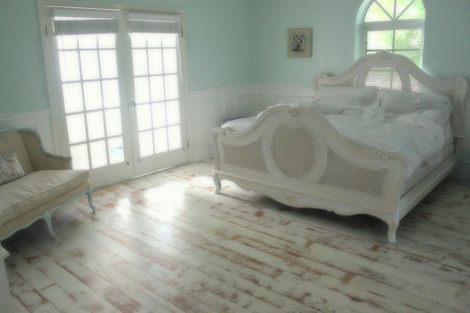 Bedrooms Distressed Wood Floors Shabby Chic Flooring Painted Wood Floors