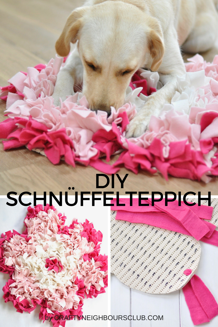 diy schn ffelteppiche f r den hund selbstgemacht als pfote und bl te m o m o pinterest. Black Bedroom Furniture Sets. Home Design Ideas