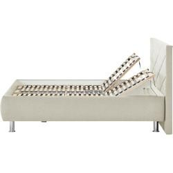 Photo of Upholstered bed Kos ¦ cream ¦ Dimensions (cm): W: 200 H: 112 opener