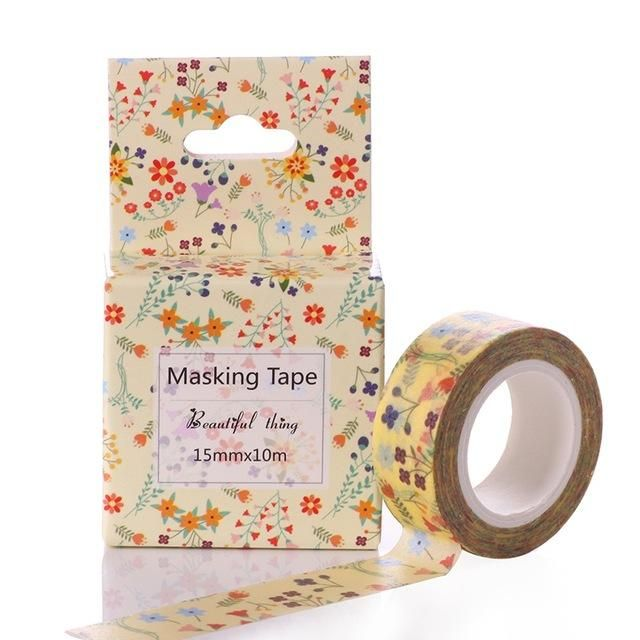 Office Adhesive Tape Tapes, Adhesives & Fasteners 15mm*10m Box Package Animals Unicorn Cartoon Washi Tape Excellent Quality Colorful Paper Masking Tape Diy Decorative Tapes