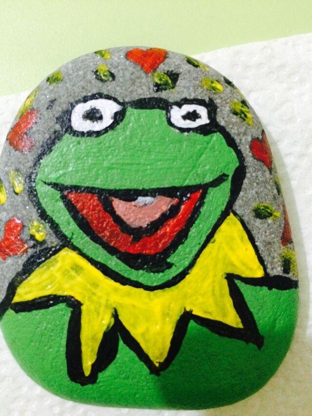 Taş Boyama Kurbağa Akrilik Boya Ile Yapıldı Kendi Yaptıklarım