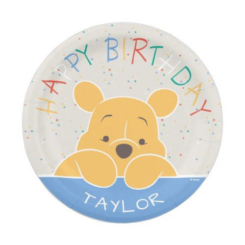 Winnie the Pooh | Happy Birthday Paper Plate  sc 1 st  Pinterest & Winnie the Pooh | Happy Birthday Paper Plate | Disney Birthday Party ...