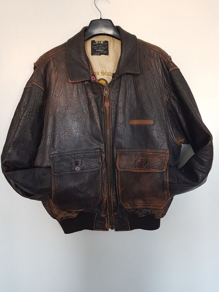 4bc6f96750a Vintage AVIREX Brown Leather Bomber Jacket Type - G1 size - L  fashion   clothing  shoes  accessories  vintage  mensvintageclothing (ebay link)