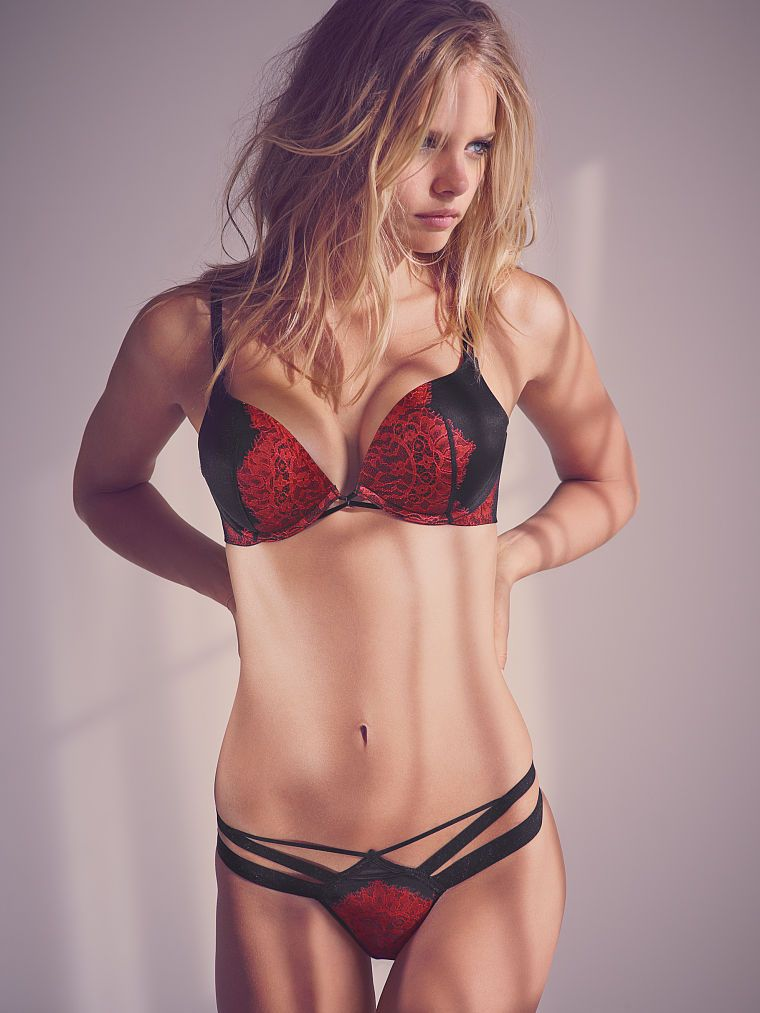 948d565411 Lace   Mesh Add-2-Cups Push-Up Bra - Bombshell - Victoria s Secret ...