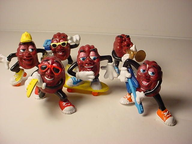 California Raisins figurines- My big brother and I used to love these!