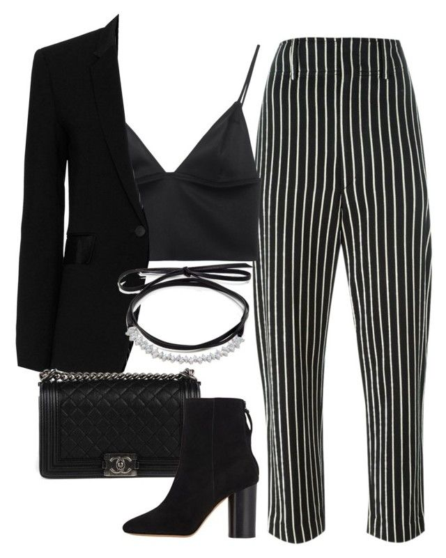 """""""Sin título #1960"""" by camila-echi ❤ liked on Polyvore featuring Isabel Marant, T By Alexander Wang, rag & bone, Fallon and Chanel"""