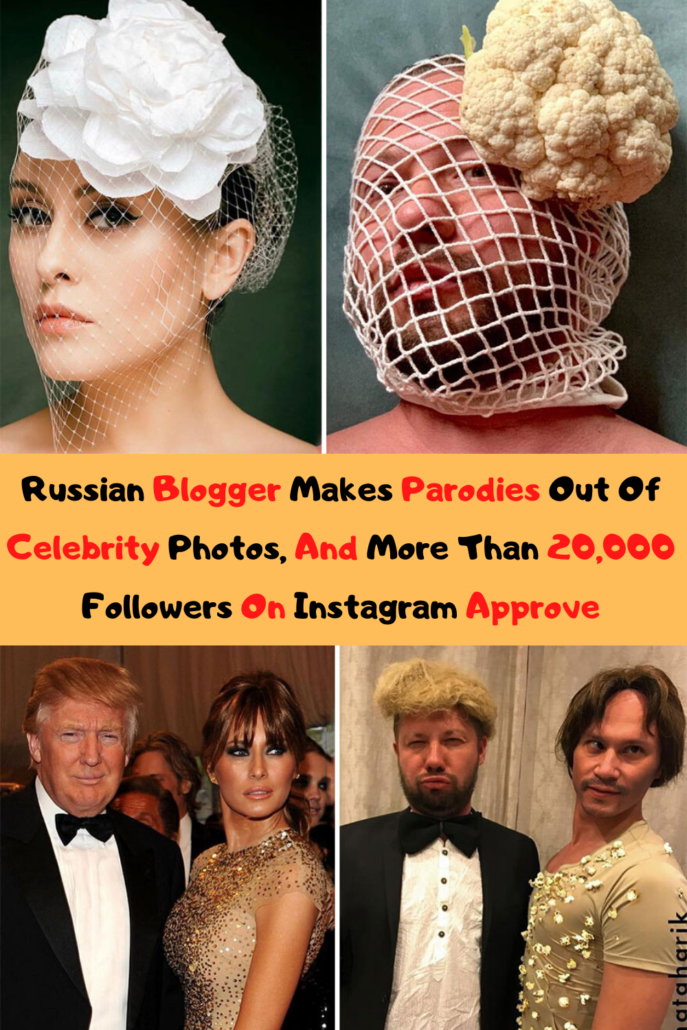 Russian Blogger Makes Parodies Out Of Celebrity Photos, And More Than 20,000 Followers On Instagram