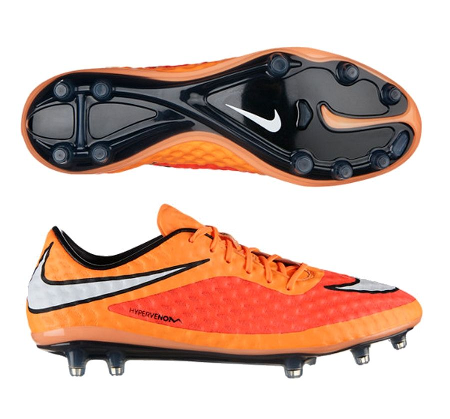 SALE $164.95 - Nike Hypervenom Phantom FG Soccer Cleats (Hyper Crimson/Atomic  Orange/White) | 599843-800 | Nike Soccer Cleats | SOCCERCORNER.COM