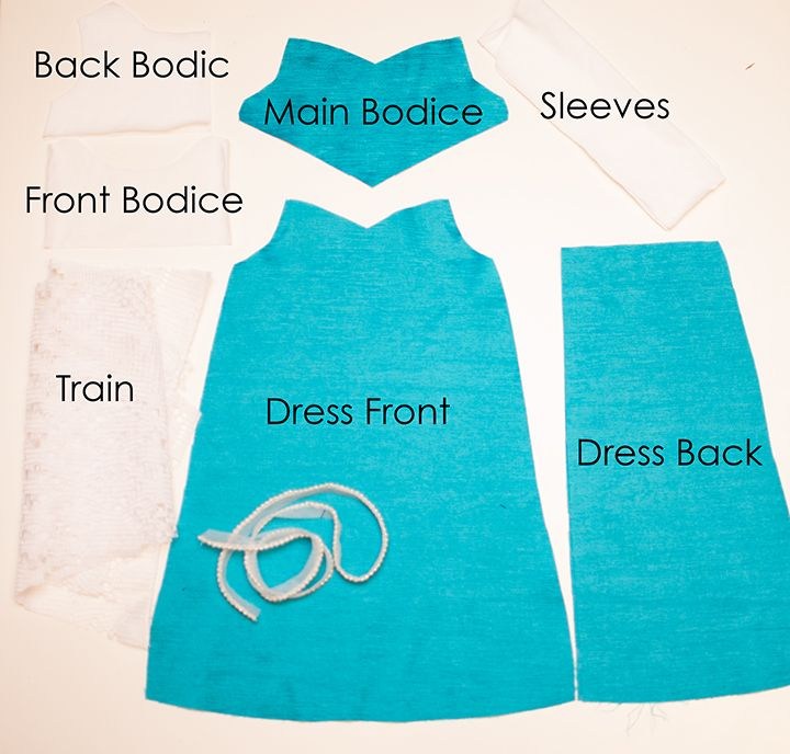 Elsa Inspired Doll Dress || Free PDF Pattern || Shwin&Shwin | Doll ...
