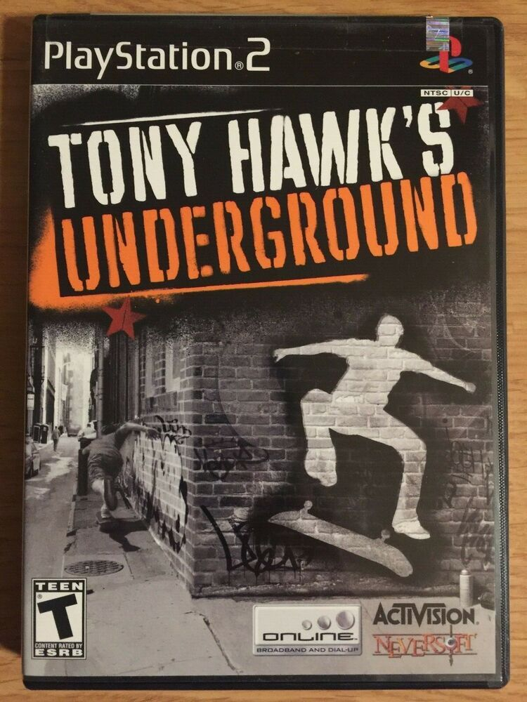 New Sony Playstation Ps2 Tony Hawk S Underground Video Game Ps4