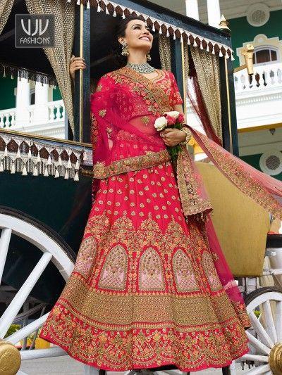 35a21c1f2cbaae Awesome Pink Color Wedding Designer Lehenga Choli in 2019   lehenga ...