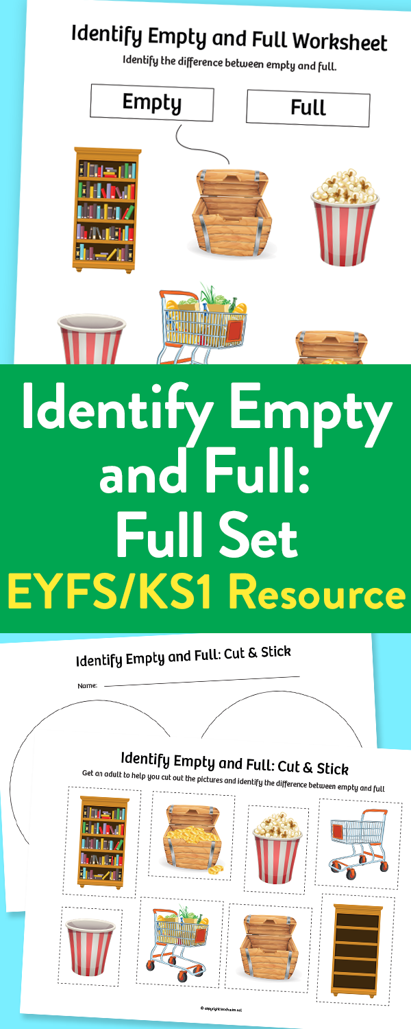 Empty And Full Learning Resources For Early Years And Ks1 Early Years Foundation Stage Preschool Learning Activities Language Development Activities