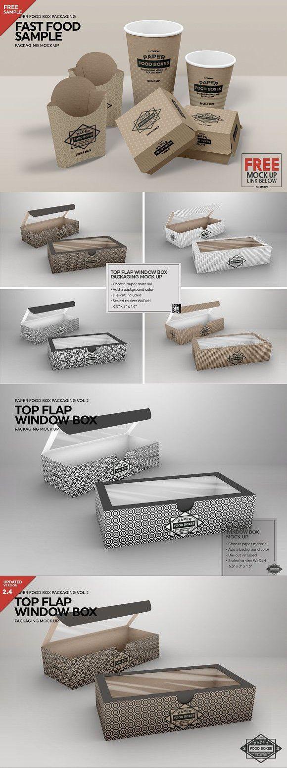 Download Top Flap Window Box Packaging Mockup Packaging Mockup Window Box Free Packaging Mockup