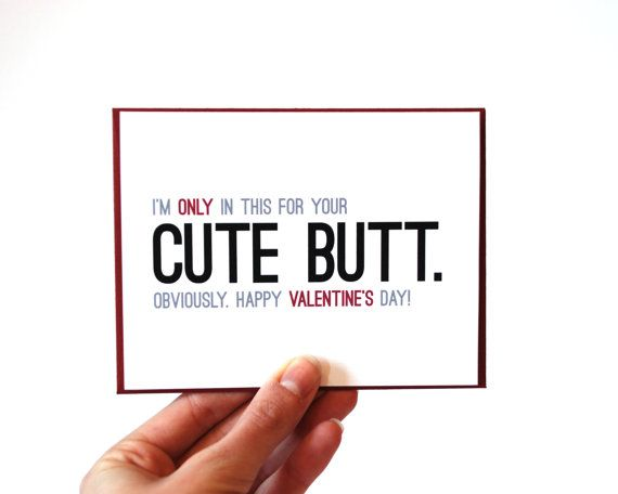 Funny Valentine Card Sexy Valentines Day Card Card for Him – Pretty Valentine Cards