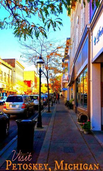 Downtown Petoskey is a great summer destination in Michigan!  #PetoskeyArea http://www.PetoskeyArea.com