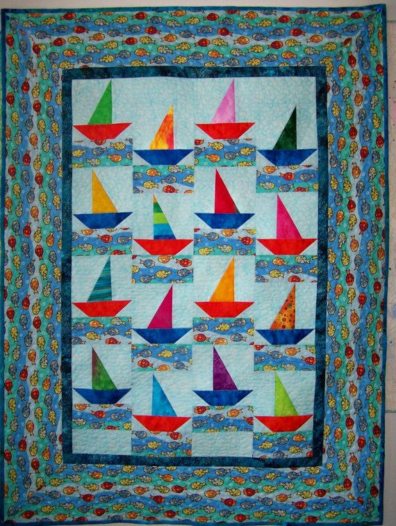 Sailboats Baby Quilt Ideas Pinterest Baby Boy Quilts Boy