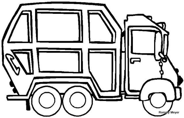 Camion De La Basura Truck Coloring Pages Garbage Truck Online Coloring Pages