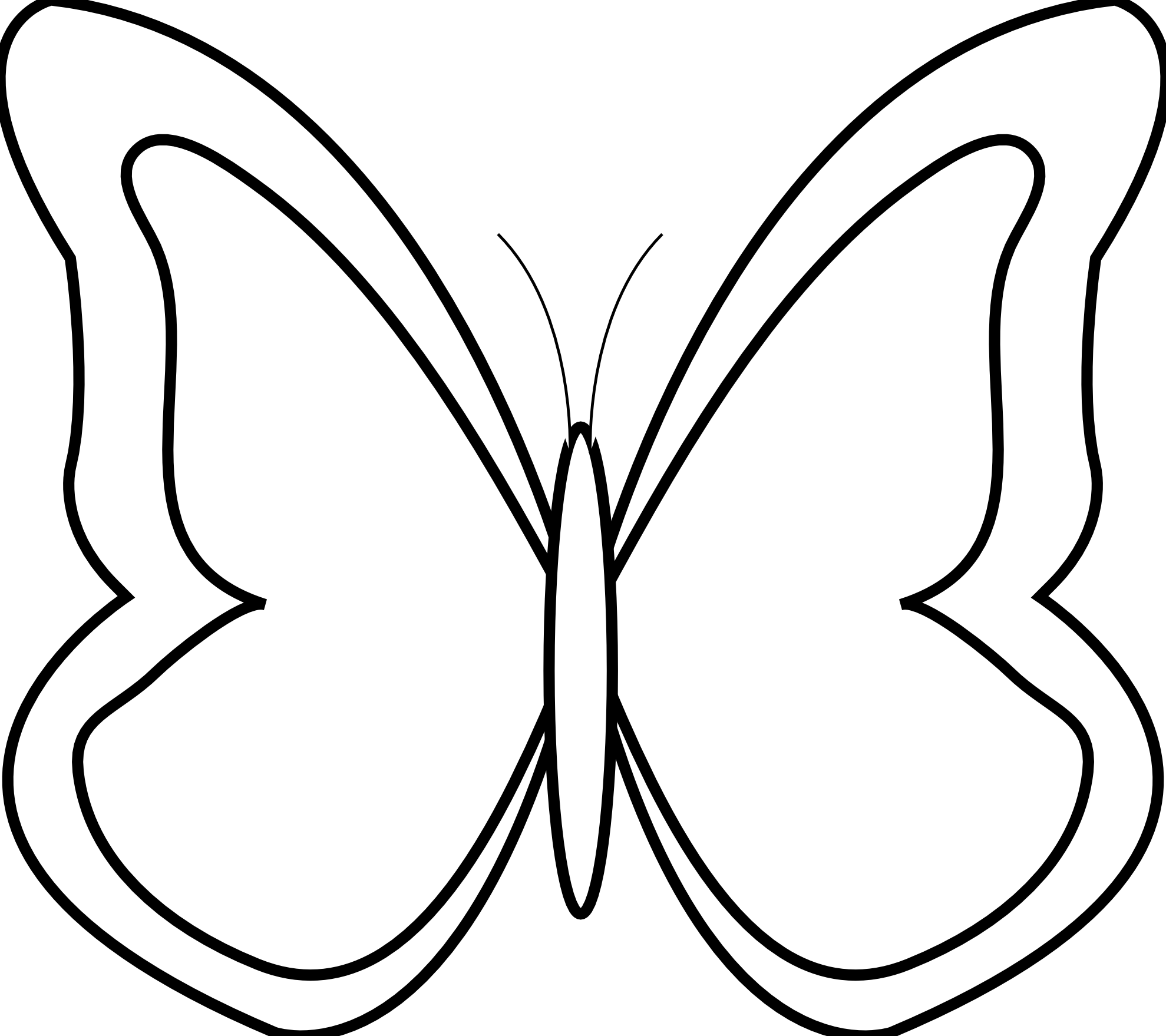 Flower black and white butterfly. Clip art clipart best