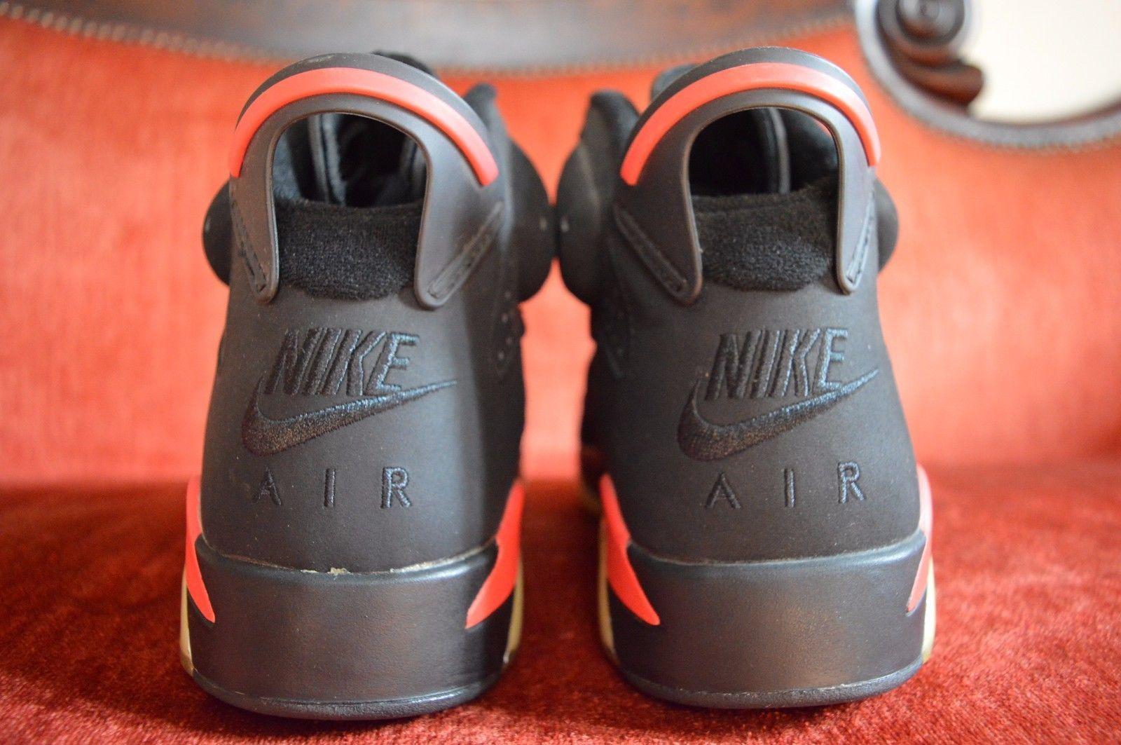 0b867cb940aa 2000 Nike Air Jordan VI 6 Retro BLACK DEEP INFRARED RED BRED 136038-061 Size  9.5
