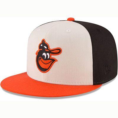 5e92b7a4d Men's New Era White/Orange Baltimore Orioles American League East ...