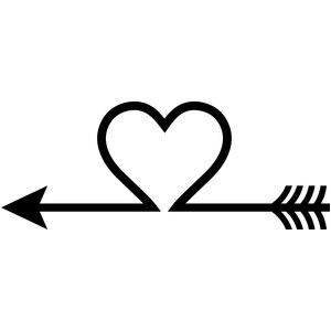 Arrow heart | Heart with arrow, Wedding logo design ...