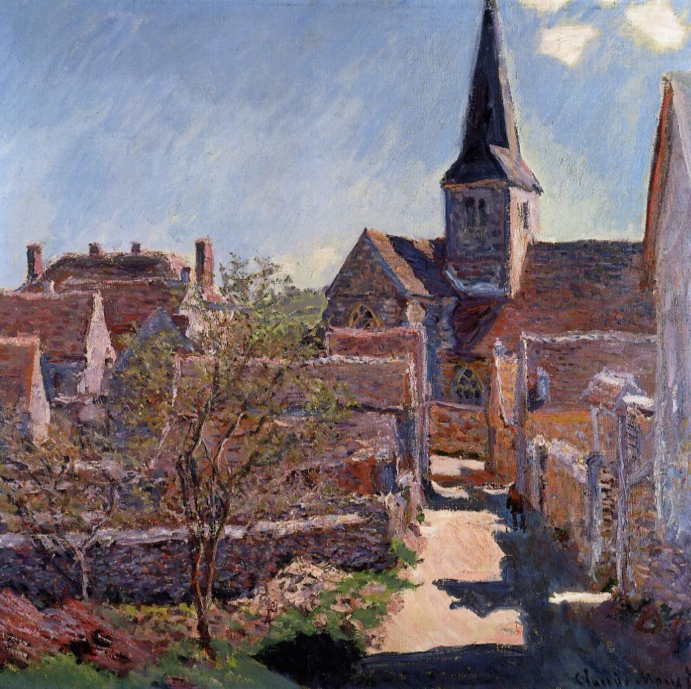 Bennecourt 1885   Claude Monet   Oil Painting #impressionism   Monet oil  paintings, Monet art, Claude monet paintings