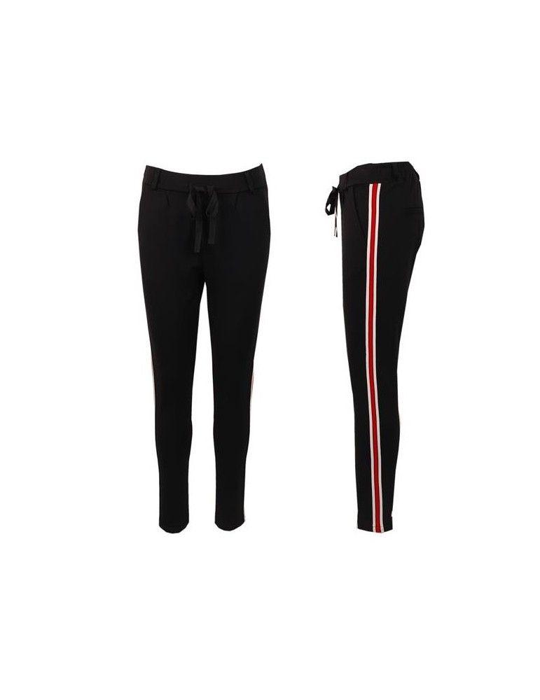 vollständige Palette von Spezifikationen abgeholt außergewöhnliche Auswahl an Stilen und Farben Esvivid Coole Sportliche Jersey Hose Chino schwarz weiß rot ...