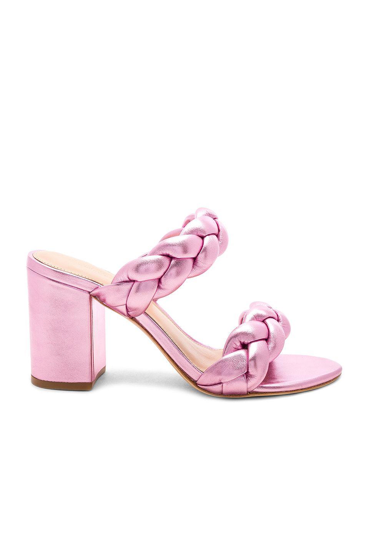 154d5e137939 RACHEL ZOE Demi Braid Mule in Pale Pink