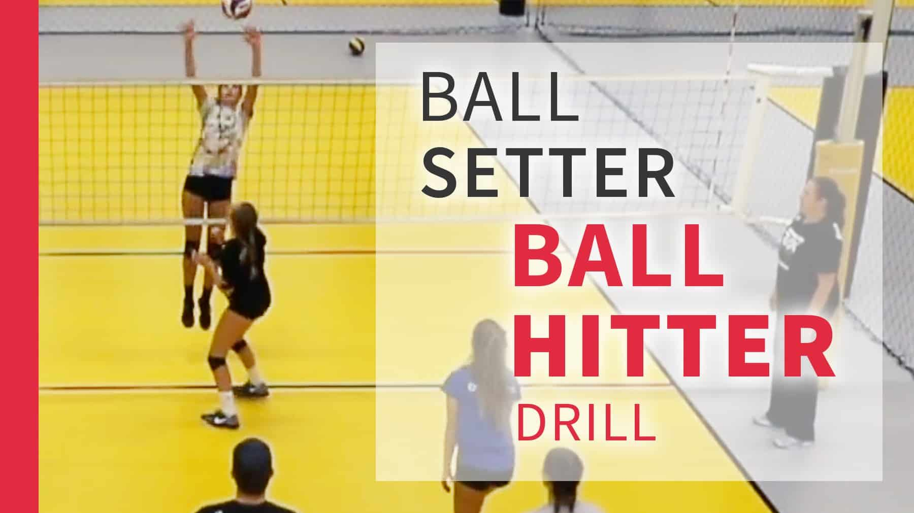 Ball Setter Ball Hitter Drill With Cary Wallin The Art Of Coaching Volleyball Coaching Volleyball Volleyball Skills Volleyball Practice