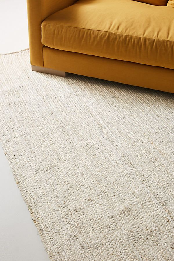 Handwoven Lorne Rectangle Rug by Anthropologie in White