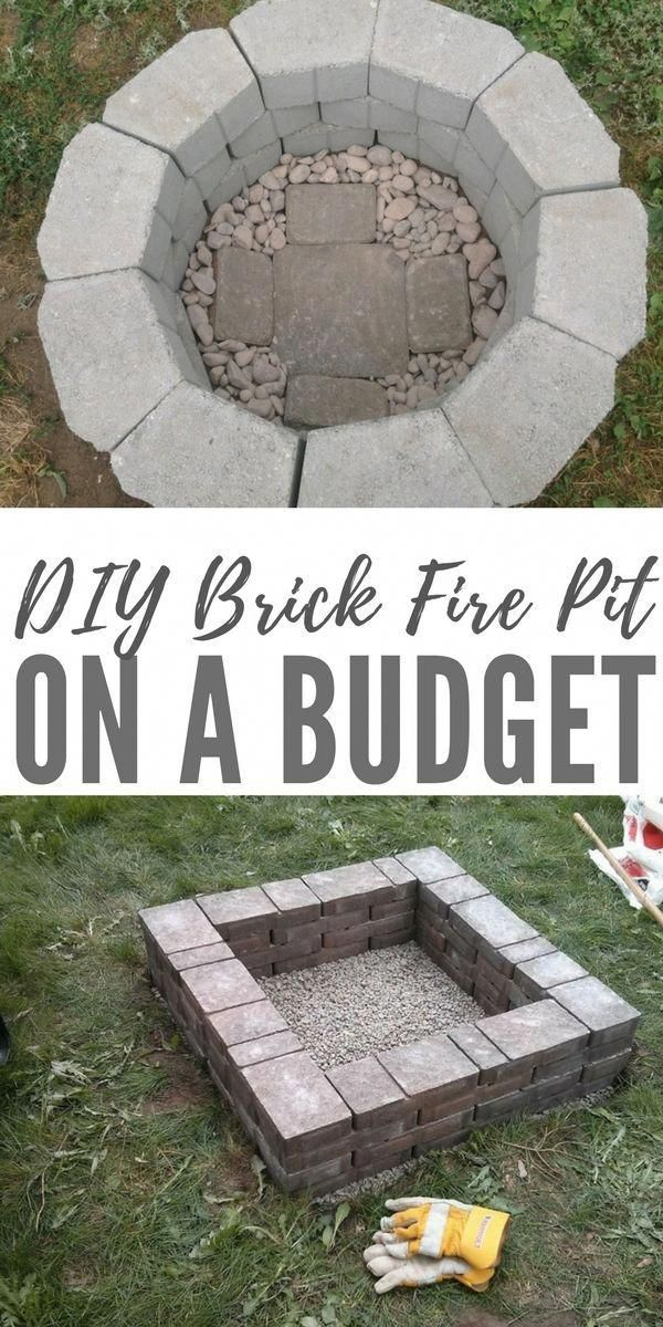 DIY Brick Fire Pit on a Budget #diyfirepit