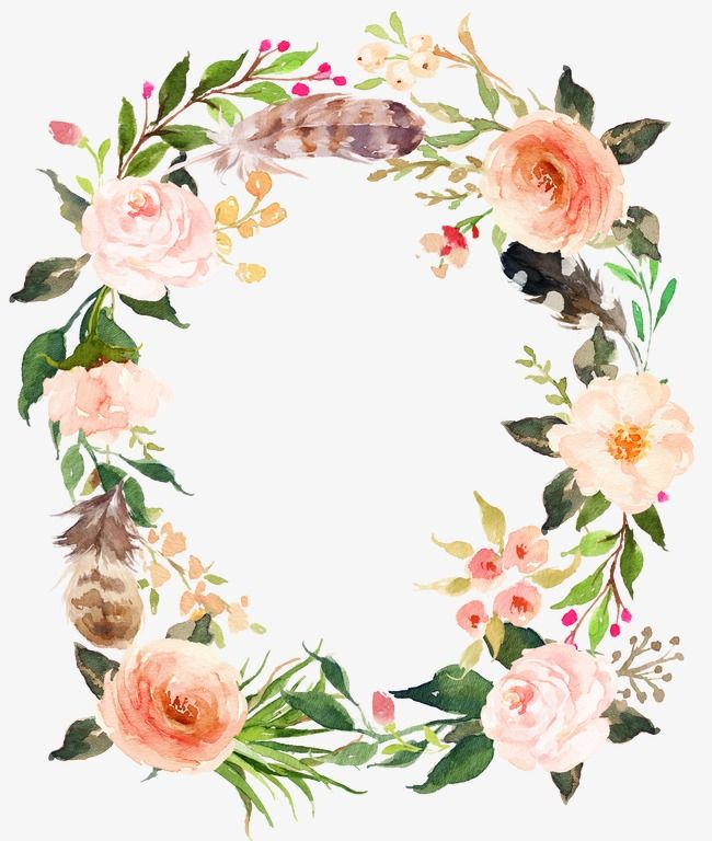 Fresh Pink Flowers Garland Watercolor Flowers Retro Flowers Fresh Png Transparent Clipart Image And Psd File For Free Download Floral Watercolor Watercolor Flowers Flower Wall Art