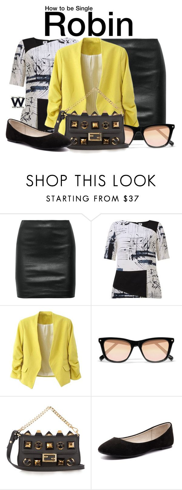 """How to Be Single"" by wearwhatyouwatch ❤ liked on Polyvore featuring The Row, Kin by John Lewis, Elizabeth and James, Fendi, Verali, wearwhatyouwatch and film"