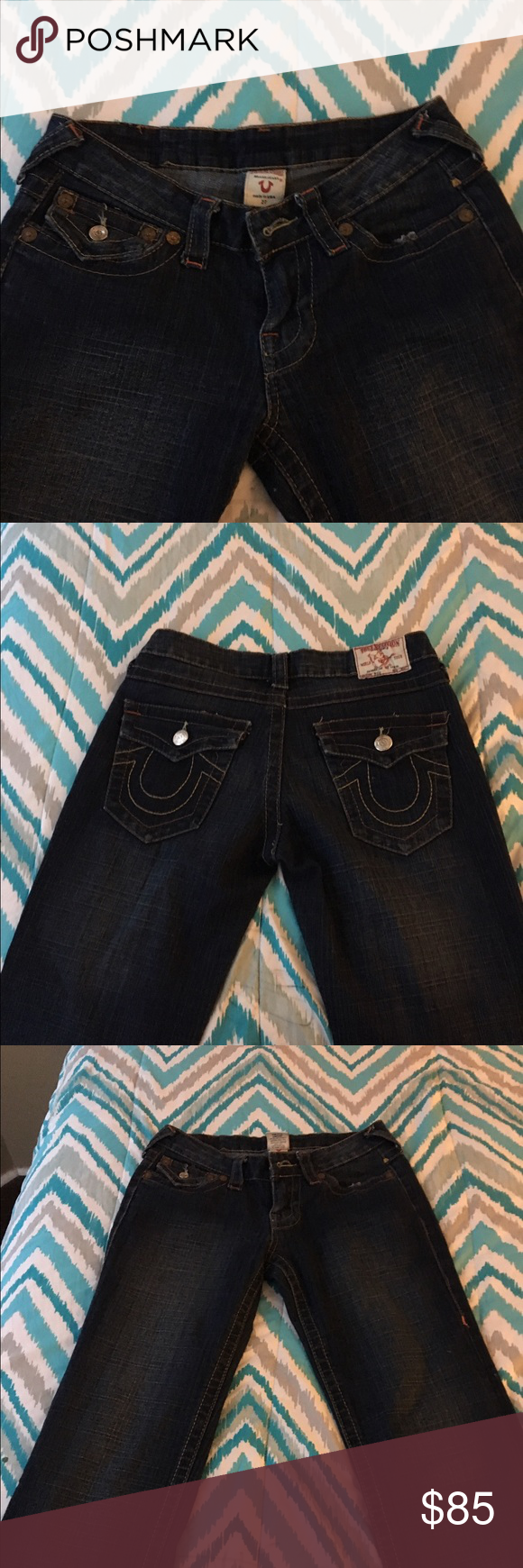True Religion Jeans Practically new...Worn once...flare leg True Religion Jeans Flare & Wide Leg