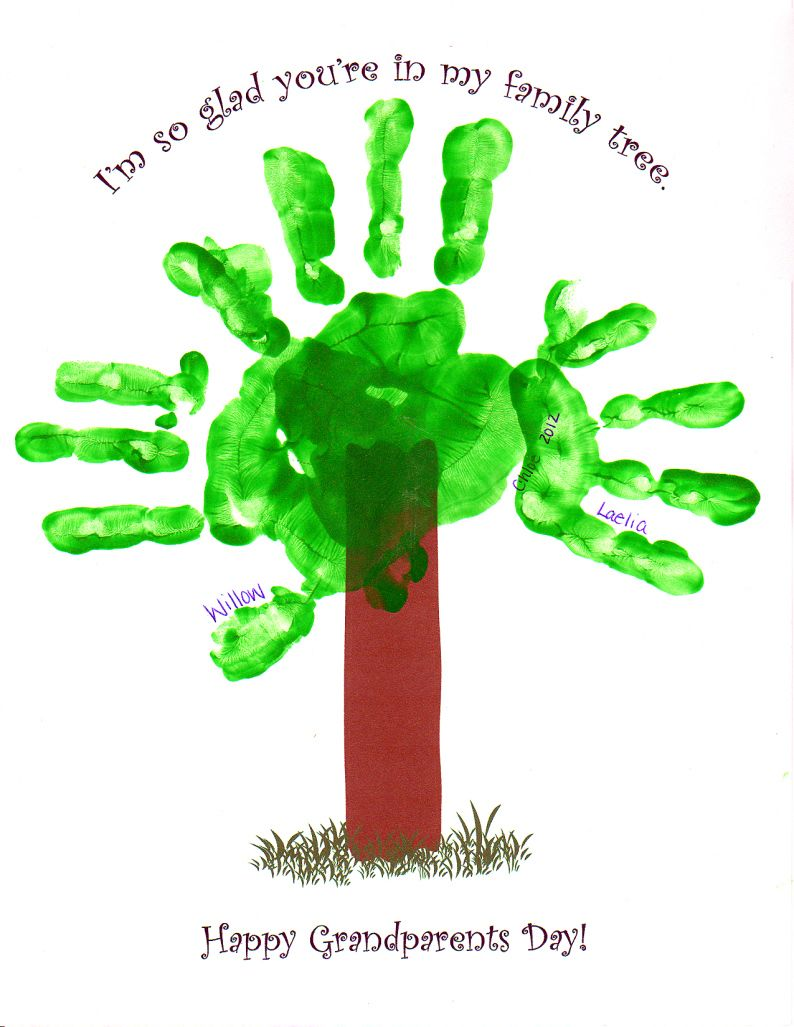 grandparents day, grandparents day craft, easy hand print craft ...