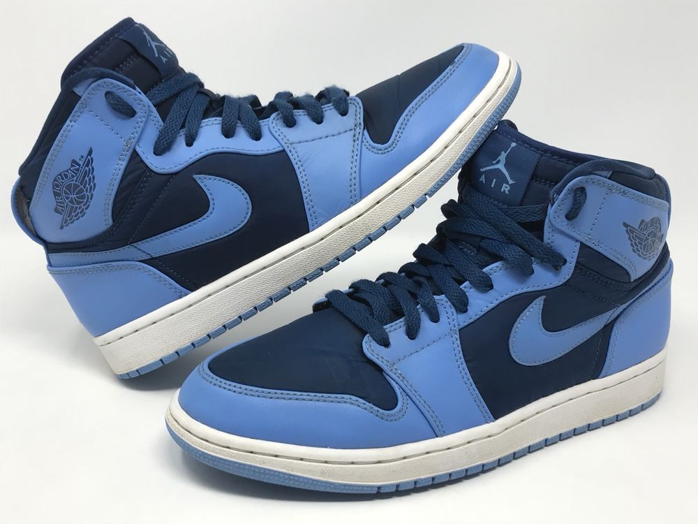 size 40 c9030 36482 Men s Nike Air Jordan 1 High Sneakers Sz 9.5 French University Blue 342132  407  Nike  AthleticSneakers