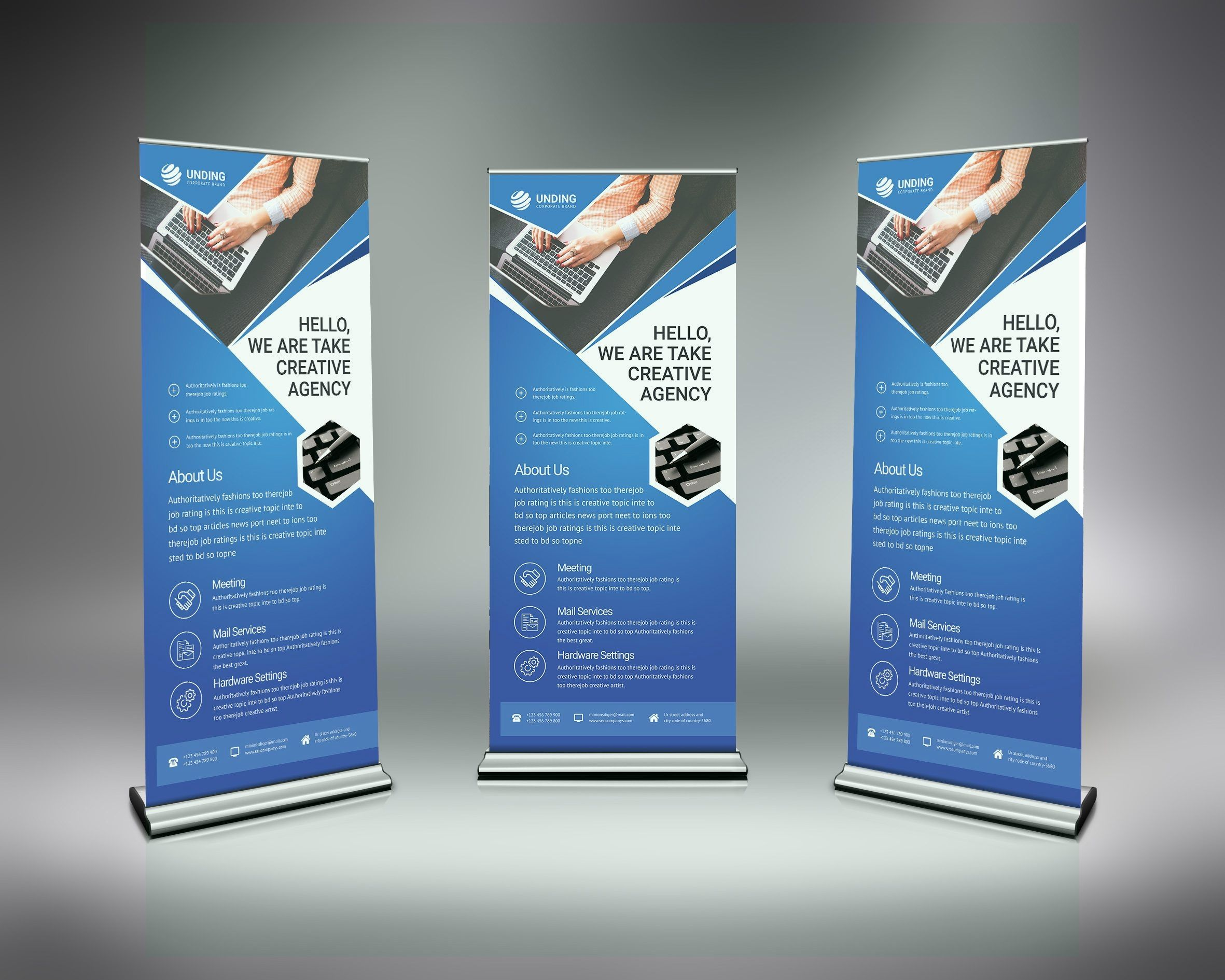 Psd Modern Roll Up Banner Graphic Yard Graphic Templates Store Banner Design Inspiration Website Banner Design Banner Template
