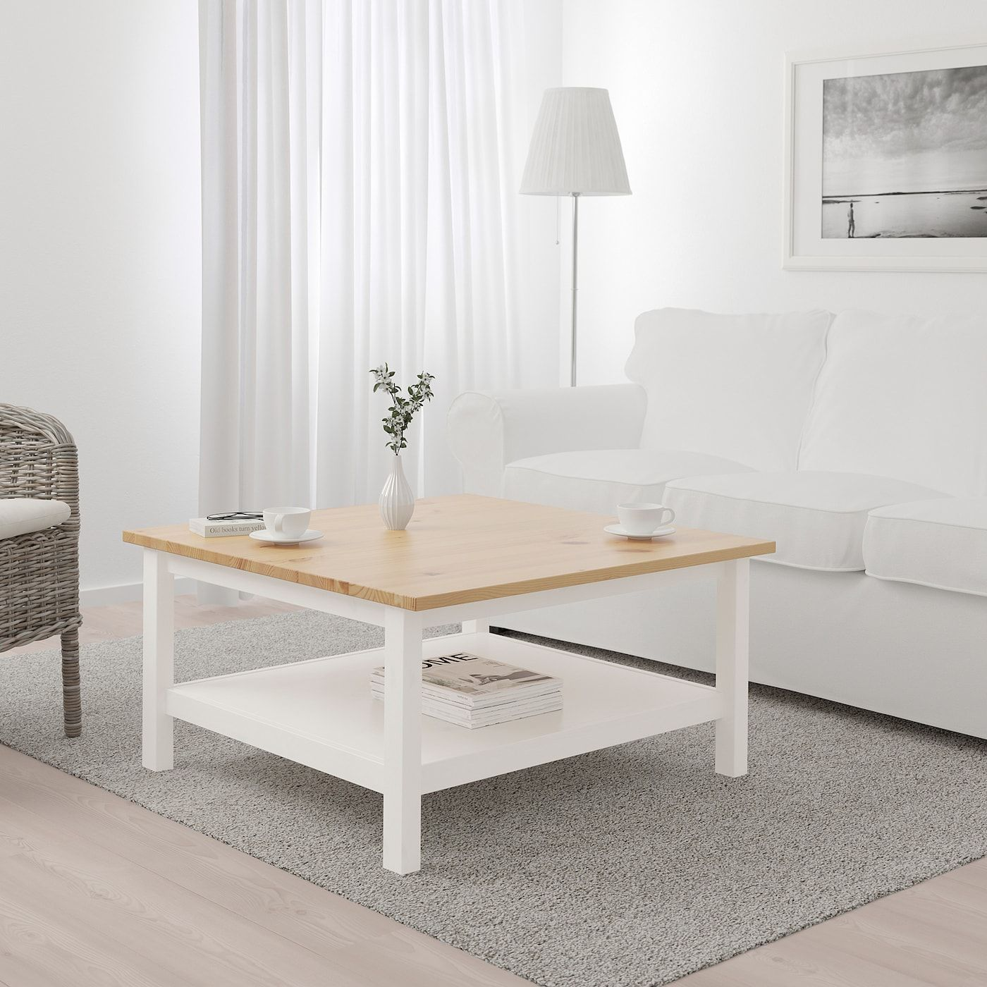 Hemnes Coffee Table White Stain Light Brown 353 8x353 8