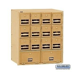 Brass Mailbox - 14 Doors - Rear Loading by Salsbury Industries. $486.00. Brass Mailbox - 14 Doors - Rear Loading - Salsbury Industries - 820996105790