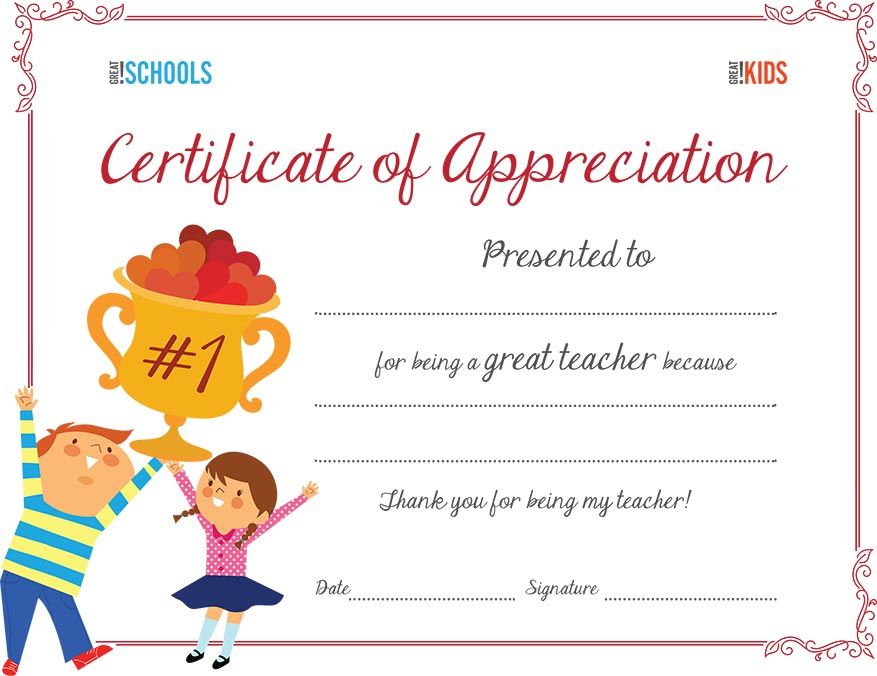 Teacher appreciation certificate Free certificates, Appreciation - certificate of appreciation examples