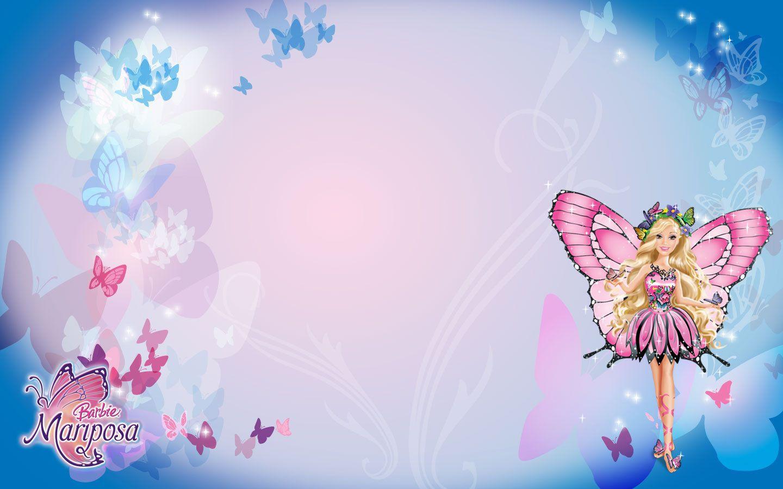Barbie Desktop Wallpaper Festa tema jardim, Desenhos de