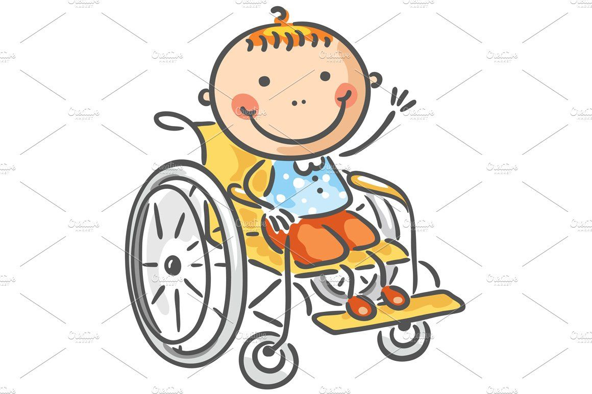A Friendly Boy In A Wheelchair In 2020 Wheelchair Art For Kids Stick Figure Drawing