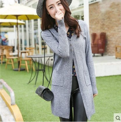 Casual Cashmere Cardigan/ Knitted Sweaters