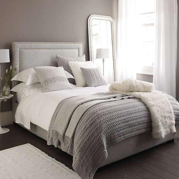 Idee camera da letto color tortora - Letto imbottito color tortora ...