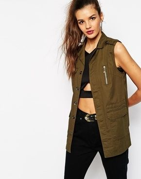 Utility cargo vest...must have piece for your closet!